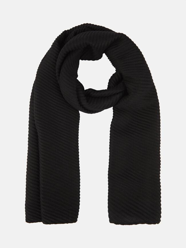 FULAR PLISADO Negro