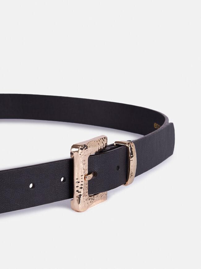 Cinturon hebilla cuadrada Negro