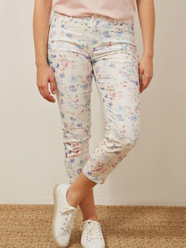 Pantalon capri estampado Multicolor image number null