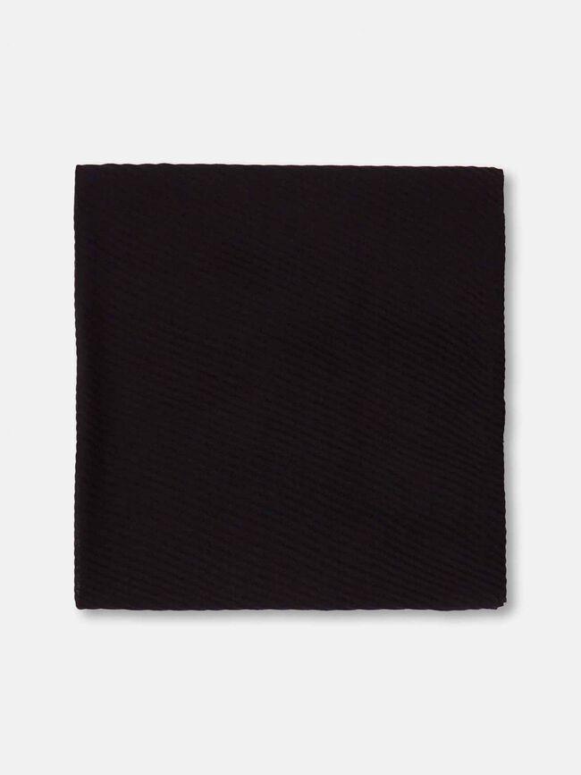 Fular basico plisado Negro