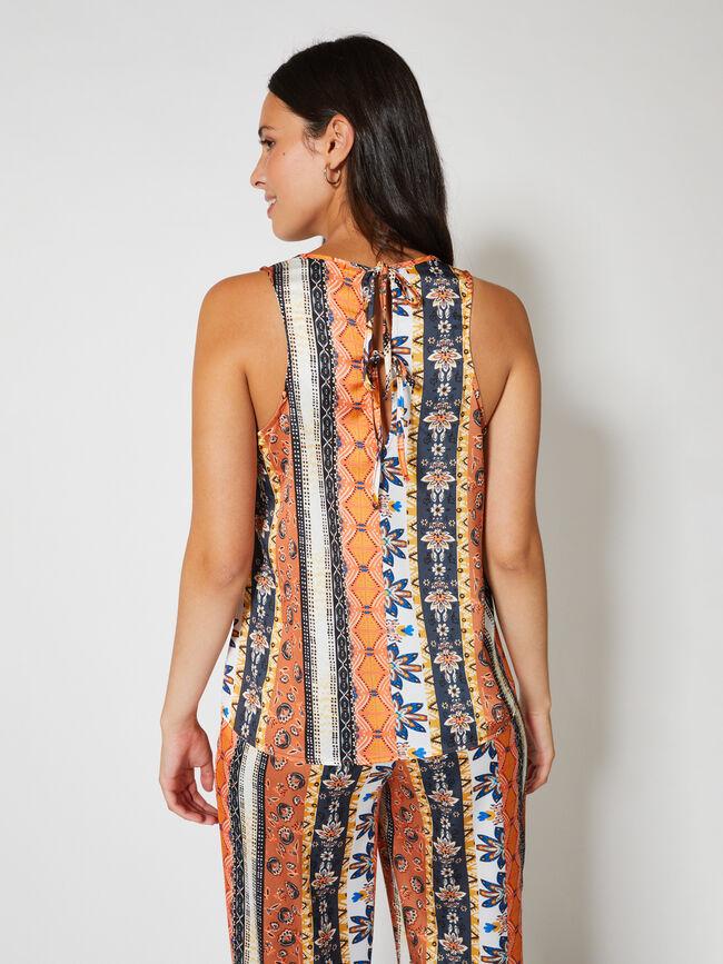 blusa sm print Naranja
