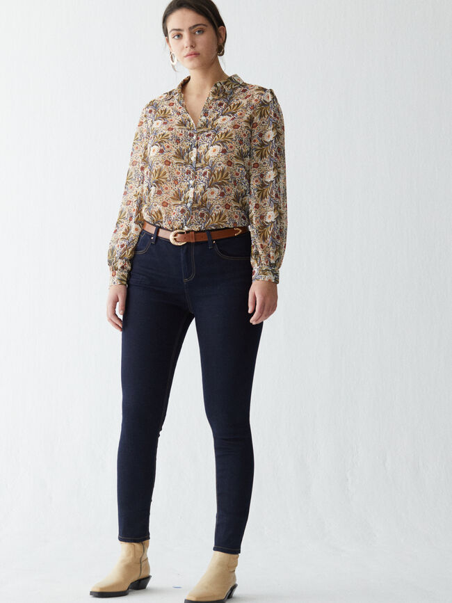 Pantalón vaquero skinny fit Mid Blue Wash image number null