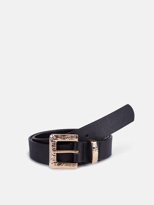 Cinturon hebilla cuadrada Negro image number null