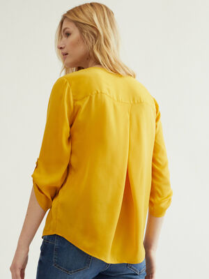 BLUSA PLIEGUES Oro image number null
