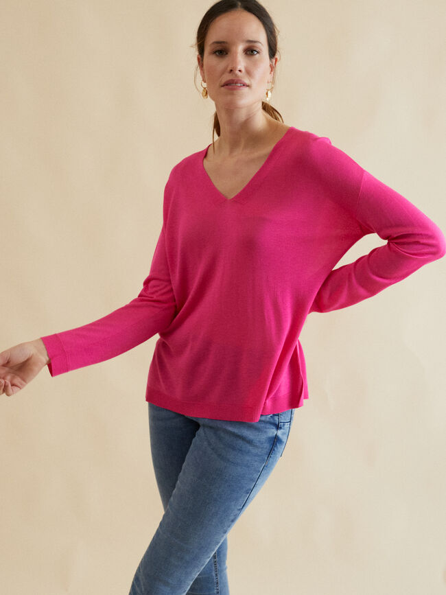 JERSEY LISO ABERTURAS Fucsia image number null