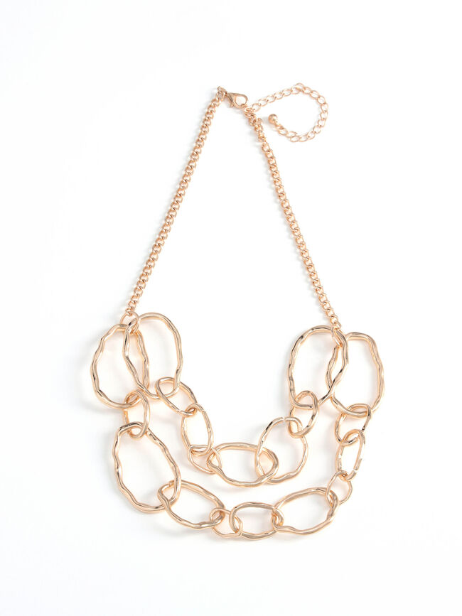 Collar cadena irregular Oro