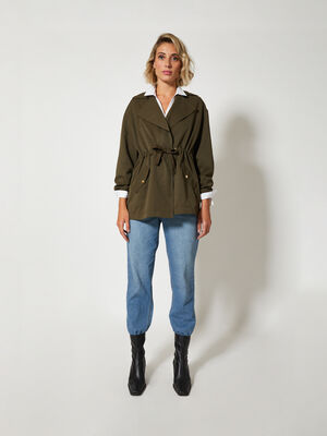 TRENCH FLUIDO Kaki image number null