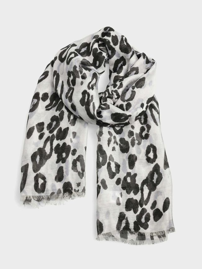 Fular estampado leopardo Negro image number null