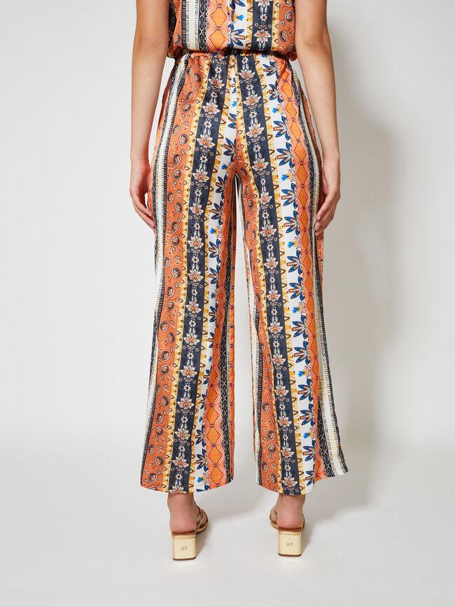 pantalón set print Naranja