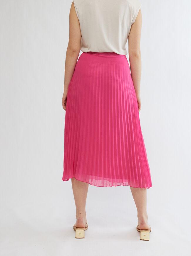 Falda plisada. FUCSIA CLARO