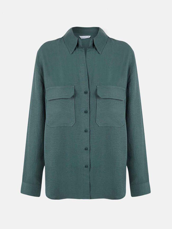 Camisa con bolsillos Verde Laguna