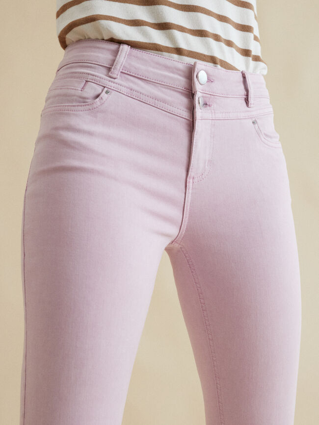 PANTALÓN TEJANERO PITILLO PUSH UP Rosa