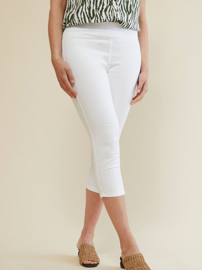 PANTALÓN JEGGING CAPRI FIT Blanco Optico image number null