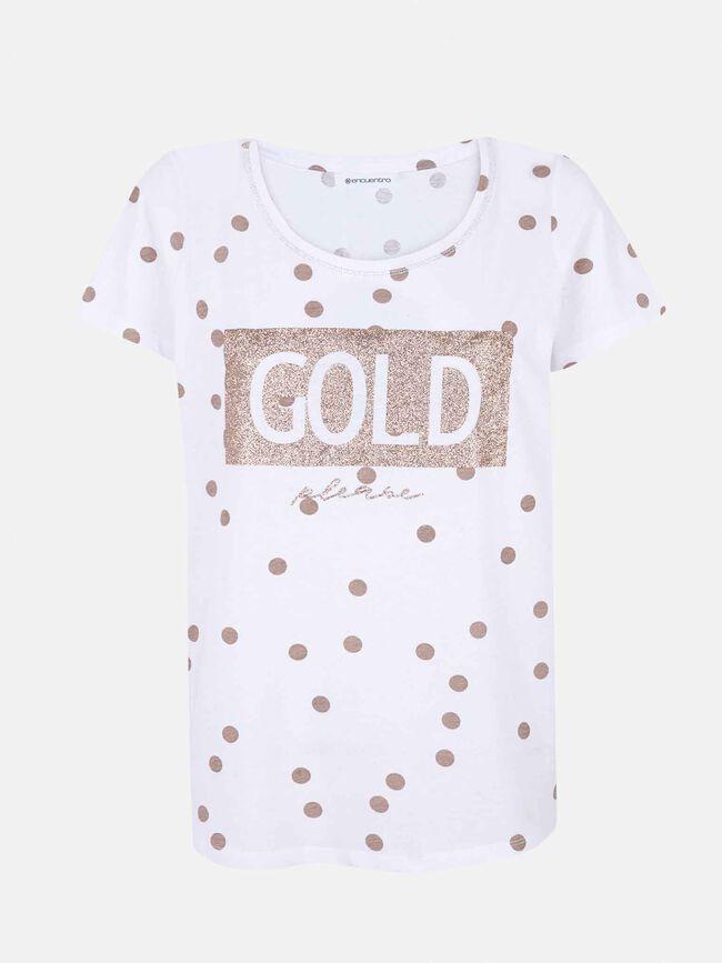 camiseta pastilla glitter Blanco Optico