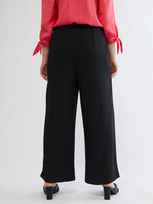 Pantalon CON DETALLE GEORGETTE Negro image number null