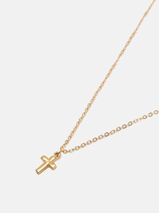 collar cruz Oro