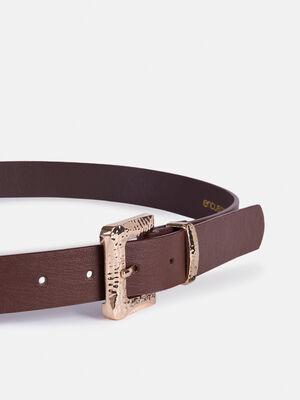 Cinturon hebilla cuadrada Chocolate image number null