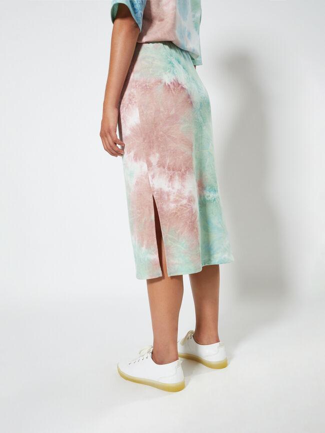 falda midi tie dye Celeste