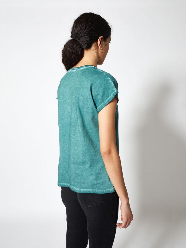 Camiseta manga corta quadrantes con técn Esmeralda Osc