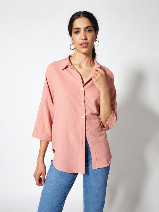 CAMISA DETALLE BOTONES Rosa Colorete