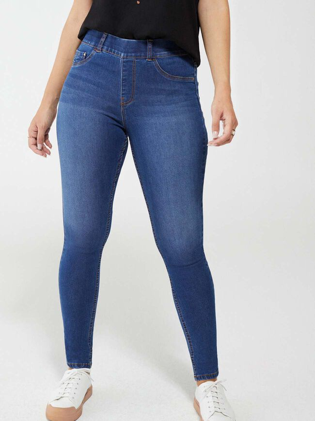 Denim Jegging Mid Blue Wash