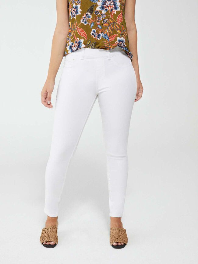 PANTALÓN JEGGING PITILLO Blanco Optico image number null