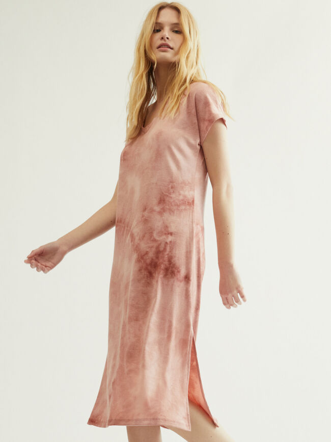 vestido cananlé tie dye Rosa image number null