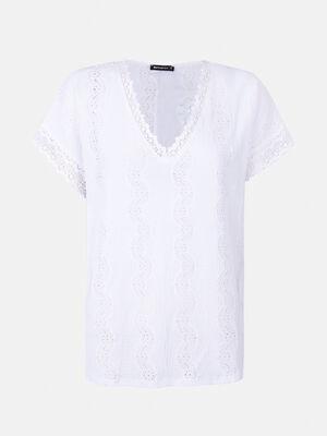 Camiseta bordada Blanco Optico image number null