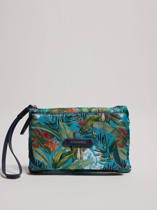 BOLSO MANO ESTAMPADO TROPICAL Estampado 5 image number null