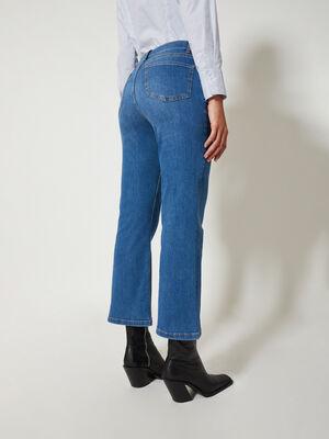 Pantalon ancho bolsillo plastron Mid blue image number null