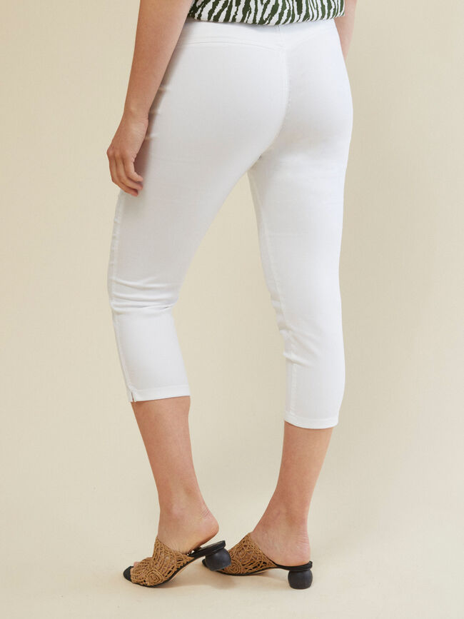 PANTALÓN JEGGING CAPRI FIT Blanco Optico