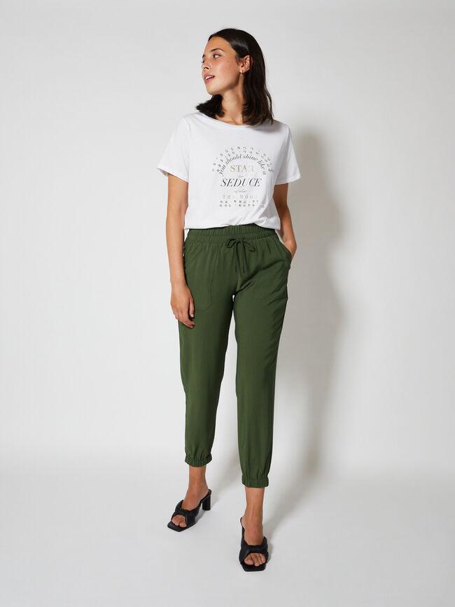 Camiseta manga corta texto redondo con j Blanco Optico