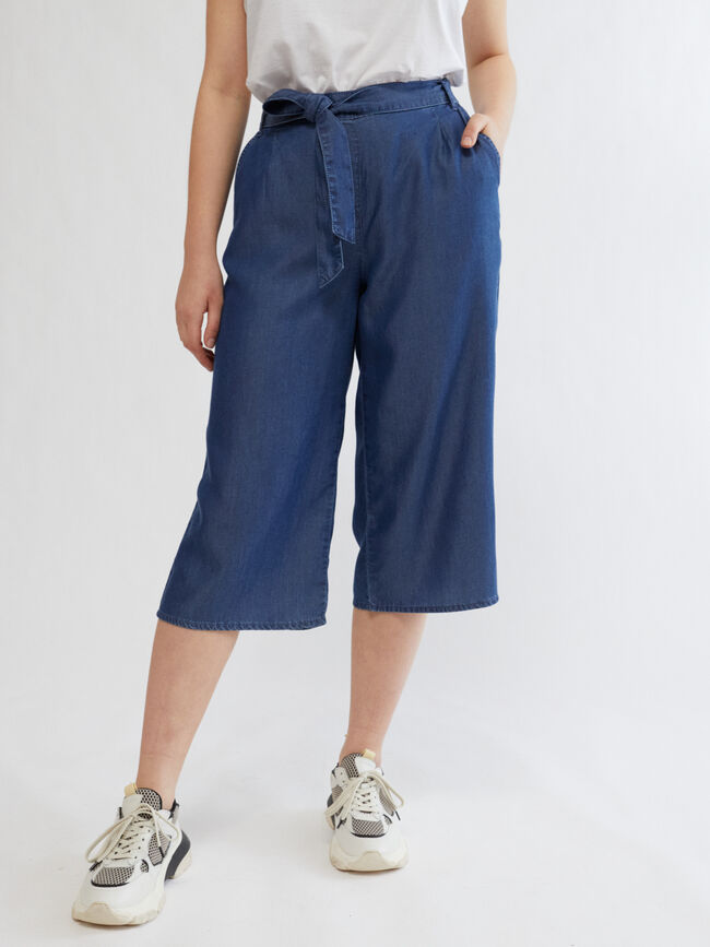 PANTALÓN DENIM LAZADA CULOTTE FIT Dark blue