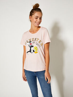 CAMISETA SYLVESTER Rosa image number null