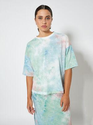 sudadera tie dye Celeste image number null
