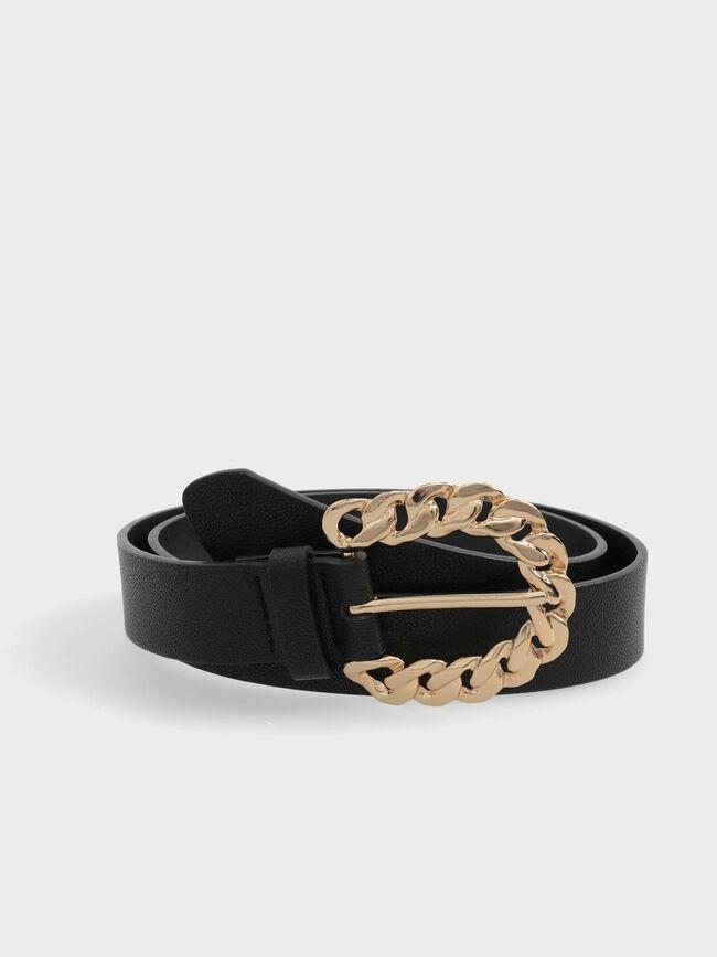 Cinturón detalle cadena Negro