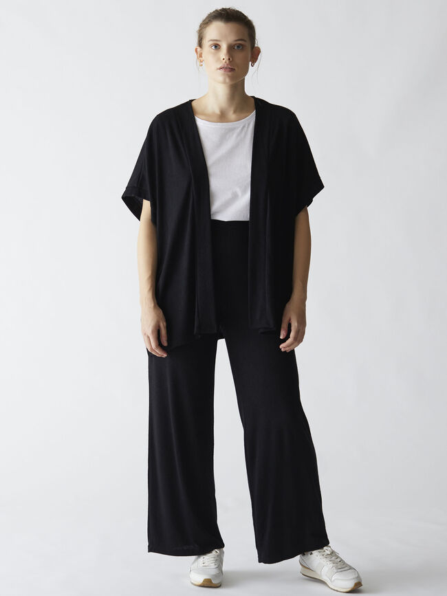 Pantalón punto straight fit Negro image number null
