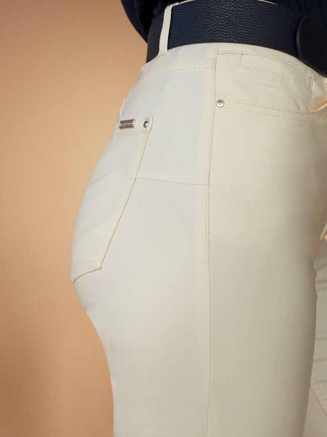 PANTALÓN TEJANERO PITILLO PUSH UP Beige image number null