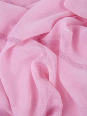 Foulard con lurex Rosa image number null