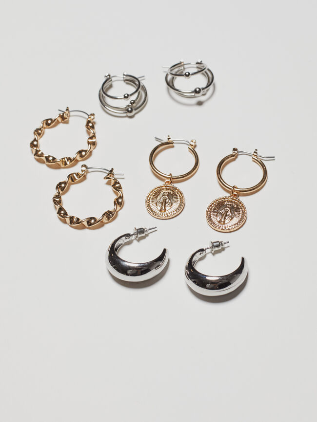 PACK PENDIENTES COMBINADOS Oro image number null