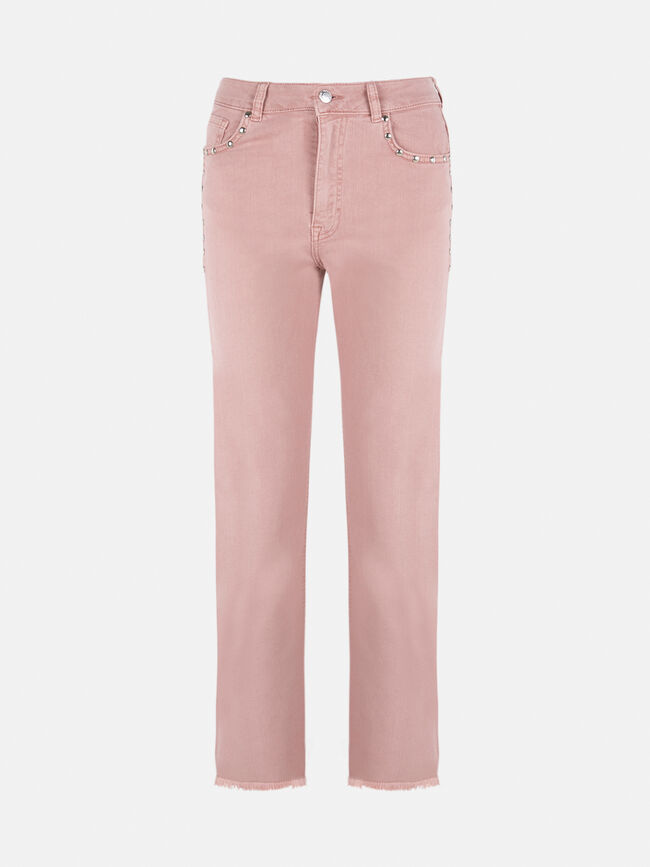 Pantalon rosa tachas Rosa