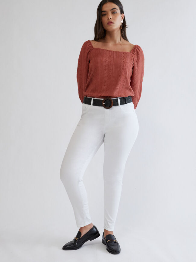 PANTALÓN JEGGING PITILLO Blanco Optico