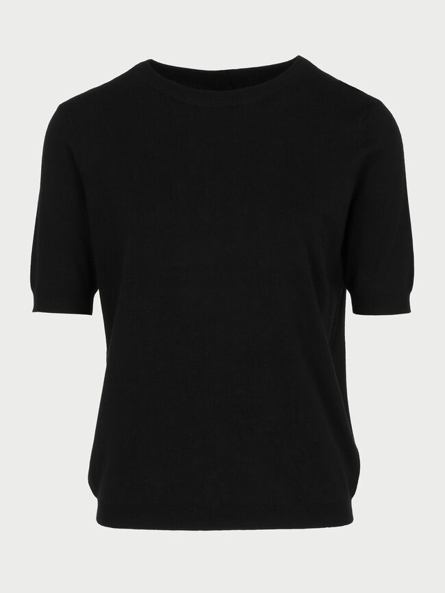 Jersey punto liso Negro