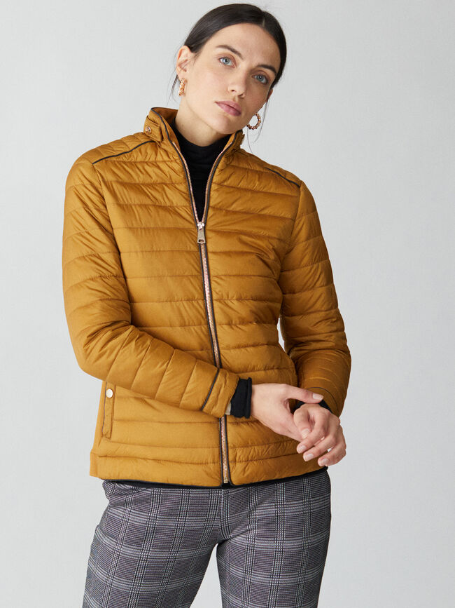 Chaqueta acolchada snaps Ocre image number null