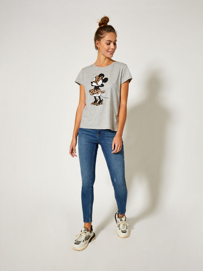 Camiseta manga corta vigore Minnie Mouse Gris